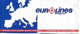 Ticket De Bus Eurolines - Bruxelles Budapest - Bruxelles - Transports
