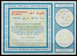 QATAR Vi20 100dh International Reply Coupon Reponse Antwortschein IAS IRC O DOHA 9.8.74 - Qatar