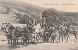 Rare Cpa L'armée Allemande Avec Chariot Chevaux Et Chiens Soldats Avec Casques à Pointes - 1914-18