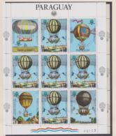 Paraguay 1983 Balloon Flight 200 Years For The First Manned Souvenir Sheet MNH/** (LAR-H57) - Mongolfiere