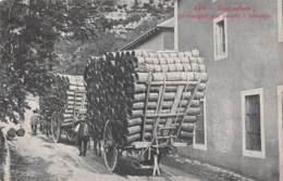 AVEYRON  12  ROQUEFORT - TRANSPORT DES PANIERS A FROMAGES - ATTELAGE - Roquefort