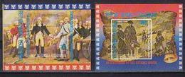 Guinea Equatorial, 1975, 200 Years Of USA (1), 2s/s Blocks - George Washington
