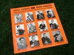 Vinyle 33 Tours (25cm) Le Rois Du Musette  Super-Danses  Super-Vedettes - Formats Spéciaux