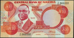 NIGERIA - 10 Naira 2005 {Signature 13} AU-UNC P.25 H - Nigeria