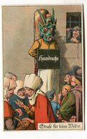CPA  Illustrateur : A J  Strafe Fûr Böse Weiber  A  VOIR  !!!!!! - Adolf 'Jodolfi'