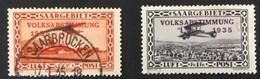 1934 Luftpost Mit Aufdruck Volksabstimmung Mi. 196, 197*) - Poste Aérienne