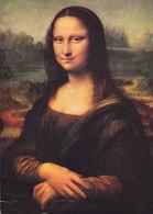 France CPA Musée De Louvre La Jaconde Mona Lisa Par Leonardo De Vinci PARIS 1979 Denmark Sabine Timbre (2 Scans) - Museen