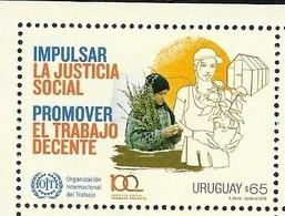 URUGUAY, 2019, MNH, SOCIAL JUSTICE, DECENT WORK,1v - Altri