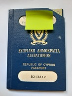 1986 Republic Of Cyprus Passport-Document Rare - Documenti Storici