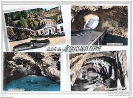 ACQUASANTA  TERME:    SALUTI  DA .... -  VISIONI  -  FOTO  COLORATA  A  MANO  -  FG - Ascoli Piceno