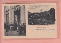 OLD POSTCARD - ITALY - ITALIA - TRAIN STATION - STAZIONE DI NAPOLI - Treni