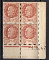 FRANCE ( COINS DATES ) Y&T N° 517  DU  01/06/1942 TIMBRES  NEUFS  SANS  TRACE  DE  CHARNIERE . - 1940-1949