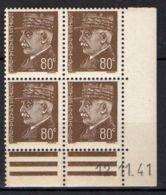 FRANCE ( COINS DATES ) Y&T N° 512  DU  12/11/1941  TIMBRES  NEUFS  SANS  TRACE  DE  CHARNIERE . - 1940-1949