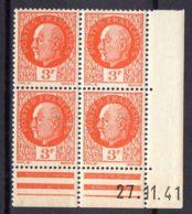FRANCE ( COINS DATES ) Y&T N°  521  DU  27/11/1941  TIMBRES  NEUFS  SANS  TRACE  DE  CHARNIERE . - 1940-1949