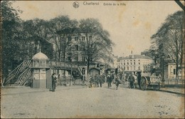 Charleroi Charleroi / Wallonisch: Tchålerwè Straße, Brücke Kiosk 1914  - België