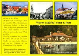 Ansichtskarte Waren (Müritz) Hafen, Seebad, Markt 2000 - Waren (Mueritz)