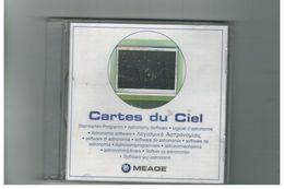 CD CARTES DU CIEL ASTRONOMY SOFTWARE MEADE MULTILINGUE - CD