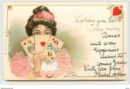 N°477 - Dame De Coeur - Carte à Jouer - Femmes