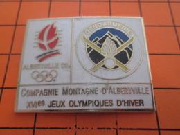 1115b PIN'S PINS / Rare Et De Belle Qualité ! / Thème : JEUX OLYMPIQUES / ALBERTVILLE GENDARMERIE 1992 COMPAGNIE DE MONT - Jeux Olympiques