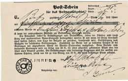 """1866, Postschein,seltener  L1  """" LIMBURG """" , A2102 - Tour Et Taxis"""