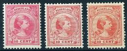 Holanda Nº 37-37a-37b (variedad Color) Nuevo* Cat.162,50€ - Unused Stamps