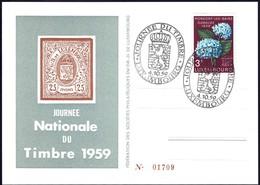 Carte Postale Journée Du Timbre Luxembourg 1959, Michel 2019: 608 - Variedades & Curiosidades