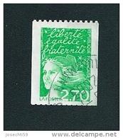 N° 3100 Type Marianne De Luquet  2.70 Frs Roulette Oblitéré Timbre France 1997 - Oblitérés