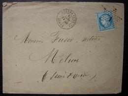 Paris Place De La Bourse 1872 Oblitération étoile 1 Bien Frappée, Lettre Pour Melun - 1849-1876: Klassik