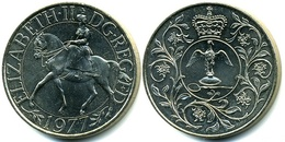 Great Britain, 1977, Queen Elizabeth II, 25 Pences - 1971-… : Monedas Decimales