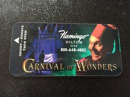 Hotelkarte Room Key Keycard Clef De Hotel Tarjeta Hotel FLAMINGO HILTON RENO Carnival Of Wonders - Telefonkarten