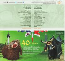 Ref #1484 Indonesia 2013 The 40th Anniversary Of Diplomatic Relations With South Korea - Joint Issue - Indonesia