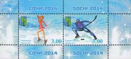 Tadschikistan 2014 MNH** Mi.Nr. 659-660 Bl.72 A Olympic Games Sochi 2014 Ss - Tadschikistan