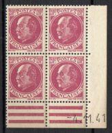 FRANCE ( COINS DATES ) Y&T N°  505  DU  04/11/1941  TIMBRES  NEUFS  SANS  TRACE  DE  CHARNIERE . - 1940-1949