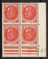 FRANCE ( COINS DATES ) Y&T N°  506  DU  23/10/1941  TIMBRES  NEUFS  SANS  TRACE  DE  CHARNIERE . - 1940-1949