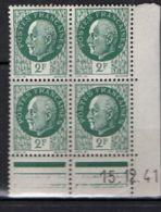 FRANCE ( COINS DATES ) Y&T N°  518  DU  15/12/1941  TIMBRES  NEUFS  SANS  TRACE  DE  CHARNIERE . - 1940-1949