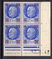 FRANCE ( COINS DATES ) Y&T N°  552  DU  17/08/1942  TIMBRES  NEUFS  SANS  TRACE  DE  CHARNIERE . - 1940-1949