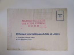 Lettre Accidentée Toulouse Wissous - Courrier Détérioré Suite Accident Aéropostal 29 01 88 - Avec Courrier Explicatif - Postmark Collection