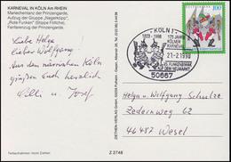 1903 Kölner Karneval, EF AK Prinzengarde SSt Köln Neumarkt Funkenbiwak 21.2.1998 - Costumes