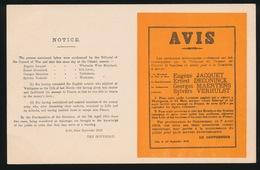 MILITAIRE ALLEMANDE  :::  AVIS - Guerra 1914-18
