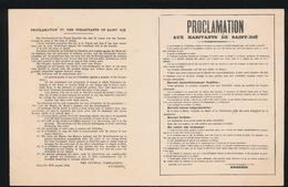MILITAIRE ALLEMANDE  :::  PROCLAMATION AUX HABITANTS DE SAINT DIE - Guerra 1914-18