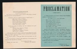 MILITAIRE ALLEMANDE  :::  PROCLAMATION - Guerra 1914-18