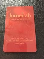 Hotelkarte Room Key Keycard Clef De Hotel Tarjeta Hotel MADINAT JUMEIRAH DUBAI MINA A SALAM - Telefonkarten