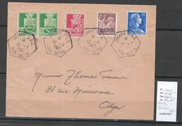 Algerie - Lettre  - Cachet Hexagonal SOUAMA  SAS -  Marcophilie - Algérie (1924-1962)