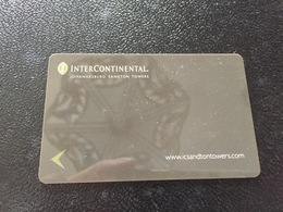 Hotelkarte Room Key Keycard Clef De Hotel Tarjeta Hotel INTERCONTINENTAL JOHANNESBURG SANDTON TOWERS - Telefonkarten