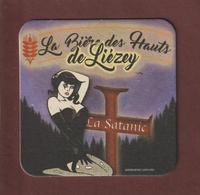 Sous  Bock De Bière - LA SATANIC - La Bière Artisanale Des Hauts De LIEZEY . Vosges - La Ferme De Liézey - Sous-bocks