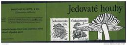 Carnet 1990 De 4X2 Timbres Yv 2920 2921 Champignons Vénéneux / Booklet 1990 Venenous Mushrooms Mi 3017 3020 - Czechoslovakia