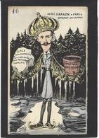 CPA Orens Satirique Franc Maçonnerie Estampe Tirage Limité En 100 Ex. Le Roi Haakon Suède Royalty Absinthe - Orens