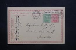 BELGIQUE - Entier Postal + Complément De Anvers Pour Bruxelles En 1921 - L 36736 - Stamped Stationery