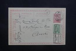 BELGIQUE - Entier Postal + Complément De Bruxelles Pour Anvers En 1921 - L 36737 - Stamped Stationery