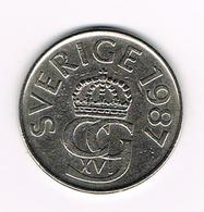 //   ZWEDEN 5  KRONOR   1987 - Suède